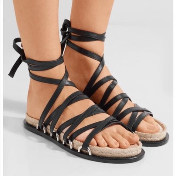 Alexander Wang Woman Adriana Lace-up Leather Espadrille Sandals Size 36 fViKuQ6oMZ